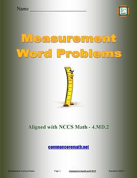 Measurement Word Problems Full Lesson Bundle - 4.MD.2