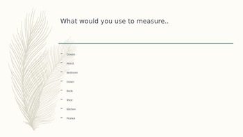 Power Point Measurement Word Problems