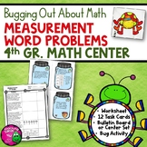 Measurement Word Problems Task Card Math Center & Bug Activity 4th Grade