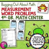 Measurement Word Problems Task Card Math Center & Bug Acti