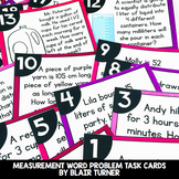 Measurement Word Problems Task Cards: 4th Grade Math Cente