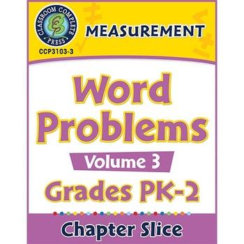 Measurement: Word Problems Vol. 3 Gr. PK-2