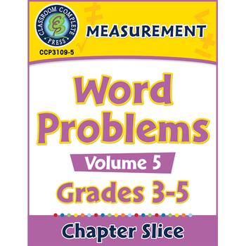 Measurement: Word Problems Vol. 5 Gr. 3-5