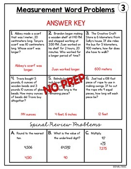 measurement word problems worksheets by shelly rees tpt. Black Bedroom Furniture Sets. Home Design Ideas