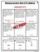 Measurement Word Problems Worksheets