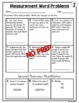 Measurement Word Problems Worksheets