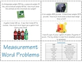 Measurement Word Problems *aligned with CCSS