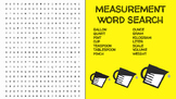 Measurement Word Search; FACS, Culinary, Bellringer, Volum