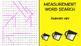 Measurement Word Search; FACS, Culinary, Bellringer, Volum