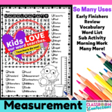 Measurement Word Search Activity