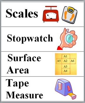 Measurement Illustrated Math Word Wall - Measurement Vocabulary