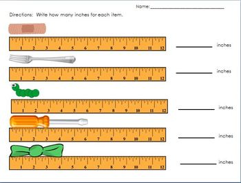 Measurement Worksheet by dijobaker | Teachers Pay Teachers