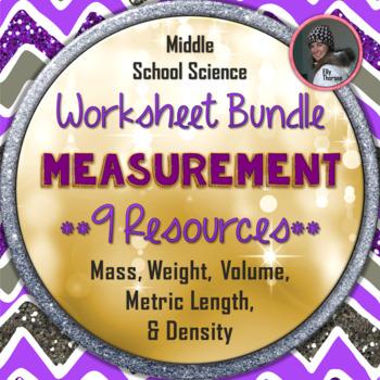 Science Measurement Worksheet BUNDLE