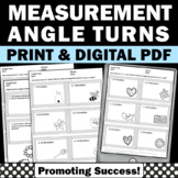 Angle Rotations, Measurement Worksheets 4th Grade Math Review 4.MD.C.5B
