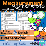 Measurement Worksheets First Grade - Length and Time