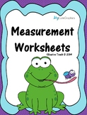 Measurement Worksheets (Horizontal and Vertical Formats)