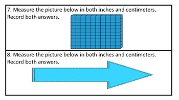 Measurement Worksheets  Inches and Centimeters