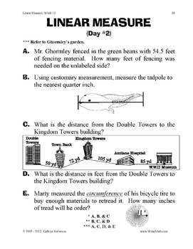 Teaching Perimeter, Area, Measurement Worksheets - 3rd, 4th, 5th Grade Math