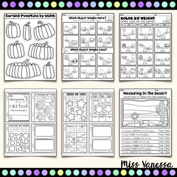 Kindergarten Measurement Worksheets