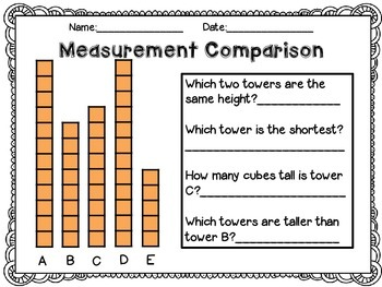 measurement worksheets using non standard units by j parkhurst tpt. Black Bedroom Furniture Sets. Home Design Ideas