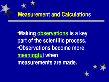 Measurement and Calculations PowerPoint