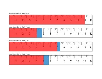 Measurement and Color to the Nearest Whole, Half, Quarter and Eighth Inch
