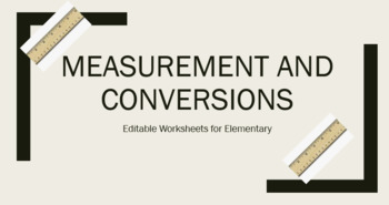 Measurement and Conversion Worksheet