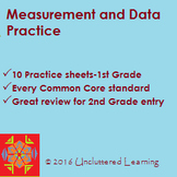 Measurement and Data - 10 Practice Sheets for 1st Grade