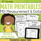 2nd Grade Math Worksheets Measurement and Data- Distance Learning Math