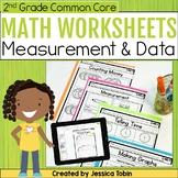 2nd Grade Math Worksheets Measurement and Data- Digital Printables Google Slides
