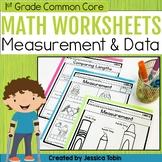 1st Grade Math Worksheets Measurement and Data- Digital Printables Google Slides