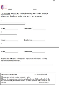 Measurement and Data All Standards 2MD Second Grade Common Core Math Worksheets