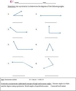 Measurement and Data 4.MD. Fourth Grade Common Core Math S