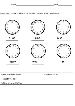 Measurement and Data All Standards - First Grade Common Core Math Worksheets 1MD
