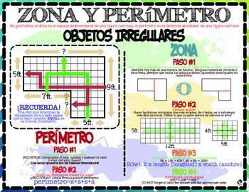 Measurement & Data: Area & Perimeter  (English & Español)