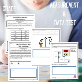 Measurement and Data Assessments Grade 4 (4.MD.1-3)