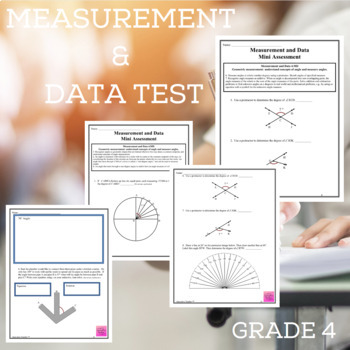 Measurement and Data Assessments Grade 4 (4.MD.5-7)