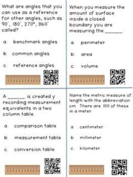 Measurement and Data CCSS: A Grade 4 Vocabulary Tool Kit