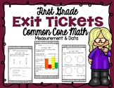First Grade Measurement and Data Exit Tickets