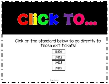 Exit Tickets Measurement and Data