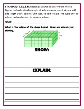 Measurement and Data Common Core Assessments for the 5th Grade