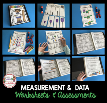 Measurement and Data Complete Kindergarten UNIT - Math Centers and Worksheets