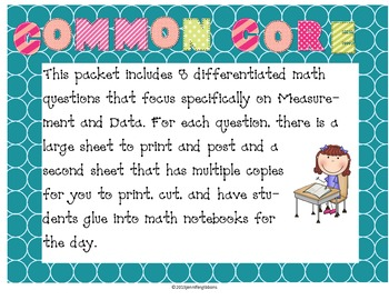 Measurement and Data Daily Math Questions: Common Core & Differentiated