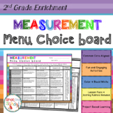 2nd Grade Measurement and Data Choice Board -  Enrichment Math Menu