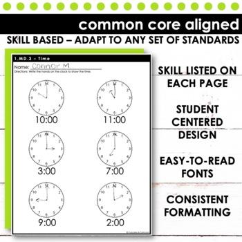 First Grade Math   Measurement and Data Bundle