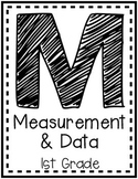 """""""Measurement and Data"""" Guided Math I Can Cards - First Grade"""