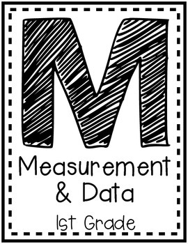 """Measurement and Data"" Guided Math I Can Cards - First Grade"