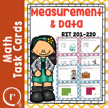 NWEA MAP Prep Math Practice Task Cards Measurement and Data RIT Band 201-220