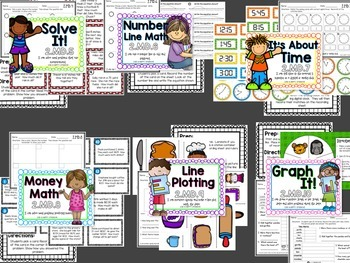 Measurement and Data Math Stations for Second Grade