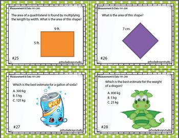 Standardized Test Prep Math Measurement Maps RIT Band 191-200 Interventions